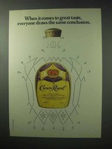 1983 Seagram's Crown Royal Whisky Ad - Conclusion - $14.99