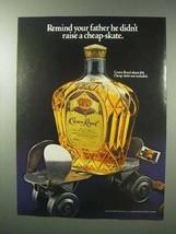 1983 Seagram's Crown Royal Whisky Ad - Cheap-Skate - $14.99