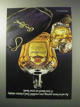 1986 Seagram's Crown Royal Whisky Ad - Stood on Head - $14.99
