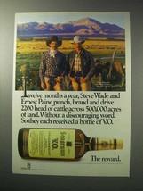 1986 Seagram's V.O. Whisky Ad - Steve Wade Ernest Paine - $14.99