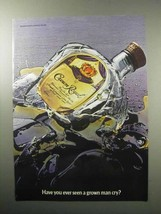 1987 Seagram's Crown Royal Whiskey Ad - Man Cry? - $14.99