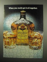 1987 Seagram's Crown Royal Whiskey Ad - All Together - $14.99