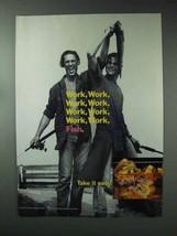 1993 Southern Comfort Ad - Work, Work, Work, Fish - $14.99