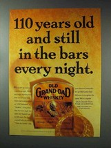 1993 Old Grand-Dad Whiskey Ad - In Bars Every Night - $14.99