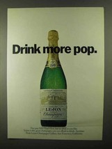 1968 Lejon Champagne Ad - Drink More Pop - $14.99
