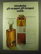 1968 Martin's V.V.O. Scotch Ad - Gift-Wrapped Scotch - $14.99