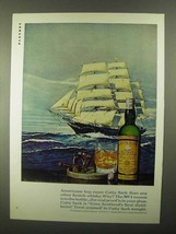 1968 Cutty Sark Scotch Ad - Americans Buy More - $14.99