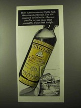 1968 Cutty Sark Scotch Ad - More Americans Enjoy - $14.99