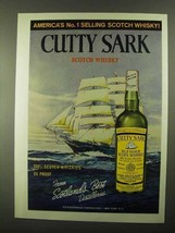 1968 Cutty Sark Scotch Ad - America's No. 1 Selling - $14.99