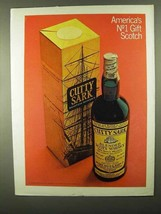 1968 Cutty Sark Scotch Ad - America's No 1 Gift Scotch - $14.99