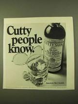 1970 Cutty Sark Scotch Ad - People Know - $14.99