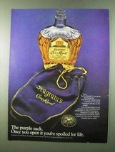 1972 Seagram's Crown Royal Ad - The Purple Sack - $14.99