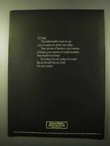 1972 Johnnie Walker Black Label Scotch Ad - To Dad - $14.99