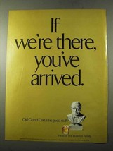 1972 Old Grand Dad Bourbon Ad - If We're There - $14.99