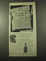 1972 Jack Daniel's Whiskey Ad - Clipping from Edinburgh - $14.99