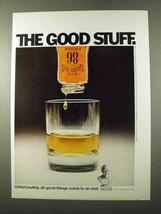 1972 Old Grand Dad Bourbon Ad - The Good Stuff - $14.99