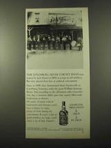 1972 Jack Daniel's Whiskey Ad - Lynchburg Cornet Band - $14.99