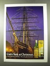 1972 Cutty Sark Scotch Ad - At Christmas - $14.99