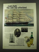 1972 Cutty Sark Scotch Ad - Only One of Its Kind - $14.99