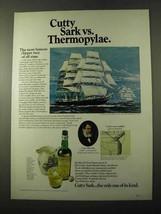 1972 Cutty Sark Scotch Ad - Vs. Thermopylae - $14.99