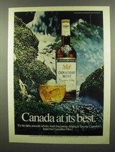 1974 Canadian Mist Whisky Ad - Canada At Best - $14.99