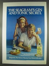 1977 Seagram's Extra Dry Gin Ad - Gin and Tonic - $14.99