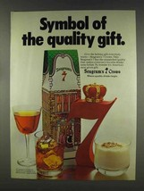 1977 Seagram's 7 Crown Whisky Ad - Quality Gift - $14.99