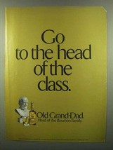 1974 Old Grand-Dad Bourbon Ad - Head of the Class - $14.99