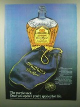 1974 Seagram's Crown Royal Ad - The Purple Sack - $14.99