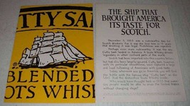 1977 Cutty Sark Scotch Ad - Ship Brought America - $14.99