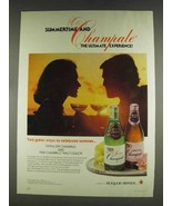 1978 Extra Dry and Pink Champale Malt Liquor Ad - $14.99