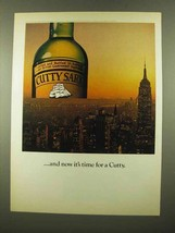1975 Cutty Sark Scotch Ad - And Now It's Time For - $14.99