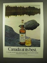 1975 Canadian Mist Whisky Ad - Its Best - $14.99