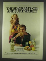 1977 Seagram's Extra Dry Gin Ad - Gin and Juice - $14.99