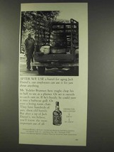 1977 Jack Daniel's Whiskey Ad - After We Use A Barrel - $14.99