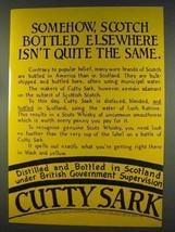1977 Cutty Sark Scotch Ad - Elsewhere Isn't Same - $14.99