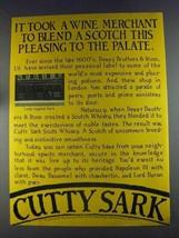 1980 Cutty Sark Scotch Ad - It Took a Wine Merchant - $14.99
