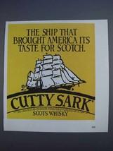 1980 Cutty Sark Scotch Ad - Ship That Brought America - $14.99