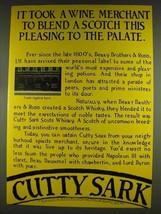 1978 Cutty Sark Scotch Ad - Took Wine Merchant to Blend - $14.99