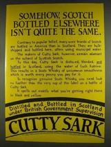1978 Cutty Sark Scotch Ad - Elsewhere Isn't the Same - $14.99