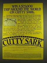 1978 Cutty Sark Scotch Ad - Trip Around the World - $14.99