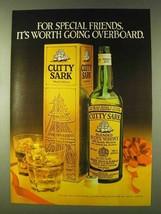 1979 Cutty Sark Scotch Ad - Worth Going Overboard - $14.99
