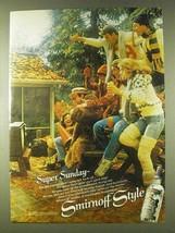 1979 Smirnoff Vodka Ad - Super Sunday - $14.99