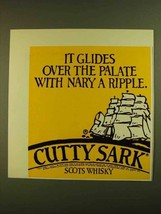 1979 Cutty Sark Scotch Ad - It Glides Over the Palate - $14.99