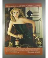 1980 Drambuie Liqueur Ad - With Giorgio Armani - $14.99