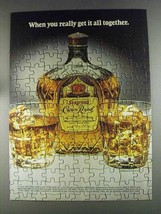 1980 Seagram's Crown Royal Ad - Get it All Together - $14.99