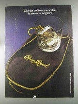 1980 Seagram's Crown Royal Ad - An Ordinary Ice Cube - $14.99