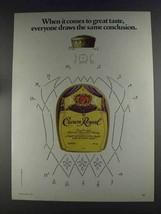 1980 Seagram's Crown Royal Ad - Draws Conclusion - $14.99
