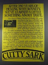 1980 Cutty Sark Scotch Ad - Dealing With Royalty - $14.99