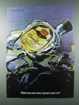 1981 Seagram's Crown Royal Whisky Ad - Grown Man Cry - $14.99